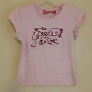 Pink babydoll -t....Coca cola logo original